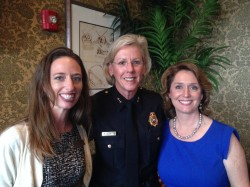 PRSA Tampa Bay President Marissa Segunda, APR with Chief Jane Castor and Laura McElroy